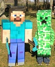 Minecraft Steve and Creeper Costumes