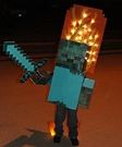 Minecraft Zombie on Fire Costume