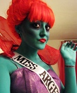 Movie character costume ideas - Beetlejuice Miss Argentina Costume