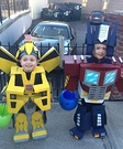 Optimus Prime and Bumblebee Transformers Costume