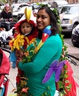 Mom Tree and Baby Parrot Costume