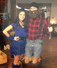 Paul Bunyan and Babe the Blue Ox Homemade Costume
