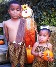 Homemade Pebbles & Bam Bam Costumes