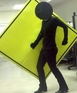 Pedestrian Crossing Sign Homemade Costume