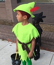 Peter Pan and his Shadow Homemade Costume