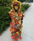 Pile of Fall Leaves Creative Halloween Costume