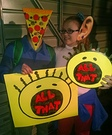 Pizza Face and Big Ear Boy Costume