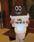 Poop Emoji with Toilet Costume