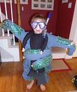 Scuba diver caught by Octopus Costume