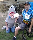 Shark and Victim Homemade Costume