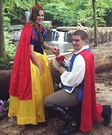 Snow White and her Prince Charming Homemade Costume