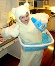 Animal costume ideas for adults - Snuggle Fabric Softener Bear Homemade Costume