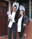 Spoon, Fork and Spork Family Costume