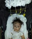 Struck by Lightning Baby Homemade Costume