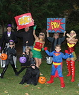 Superheros and Villians Group Costume