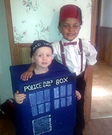 The 11th Doctor and his Tardis Costume