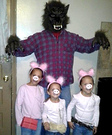Three Little Pigs and Big Bad Wolf Costume