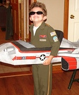 Homemade Top Gun Fighter Pilot Costume