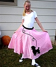 Homemade Poodle Skirt Costume